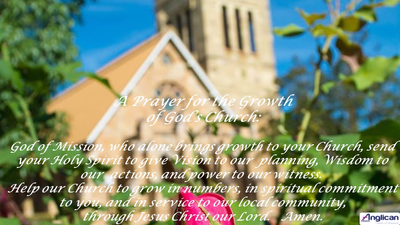 prayer for growth of gods church april 2020